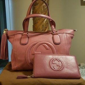 🦄 Gucci Cellarius Soho tote & matching wallet